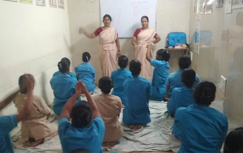 Yoga training for nurses in GVN Hospital