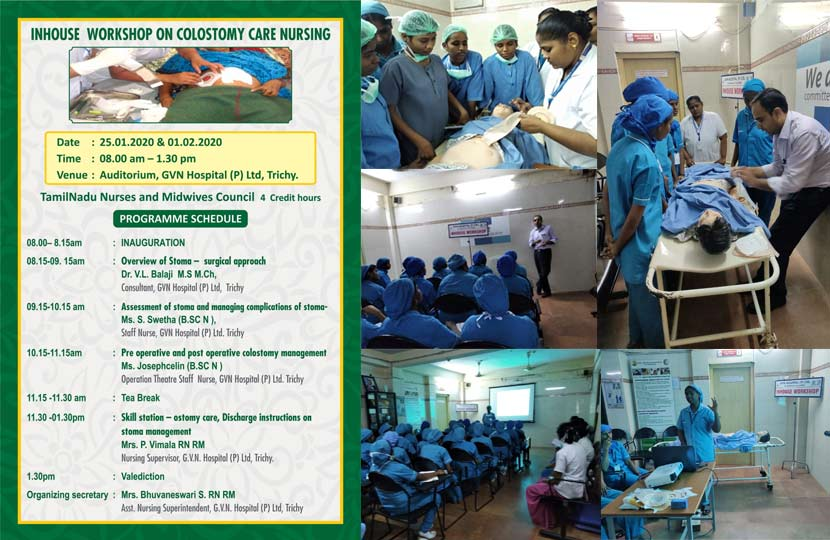 Inhouse Workshop on Colostomy Care Nursing